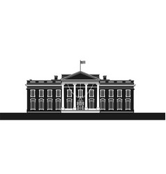 The white house vector