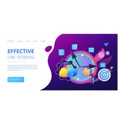time management concept landing page vector image
