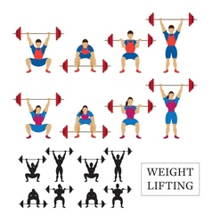 Weightlifting Athlete Men and Women vector