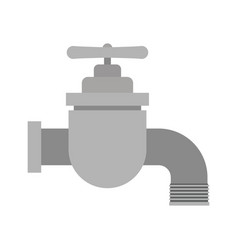 white background with color silhouette of faucet vector image