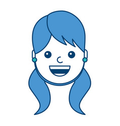 woman face smiling happy expression image vector image