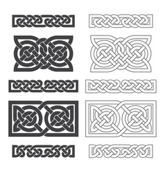 celtic horizontal knot ethnic ornament vector image vector image