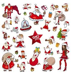 christmas theme cartoons vector image vector image