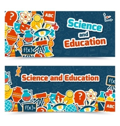 Education science banners vector image vector image