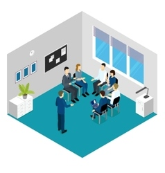 Personnel training isometric concept vector