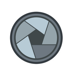 photo objective icon flat style vector image