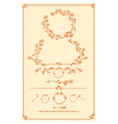 set of decorative autumn floral elements vector image vector image