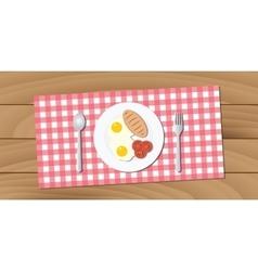 breakfast menu on wood table vector image