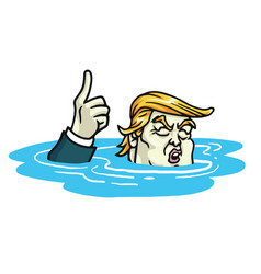 donald trump climate change agreement cartoon vector image vector image