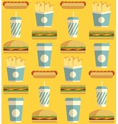 Fast Food icon pattern vector image vector image