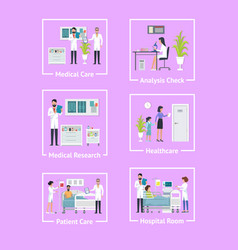 medical care analysis check vector image vector image