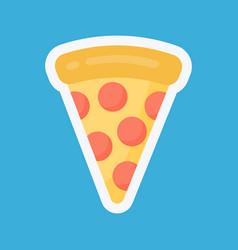 pizza slice vecot flat icon vector image