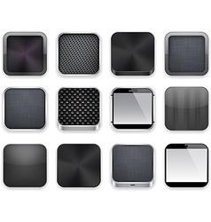 Black app icons vector image