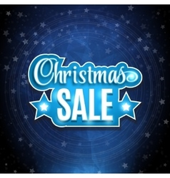 Frame with the words Christmas Sale Background on vector image vector image