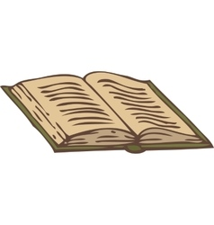 Open Book with a Green Cover vector image vector image