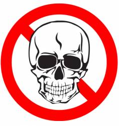 skull sign vector image vector image