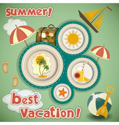 Summer Vacation Travel Card vector image vector image
