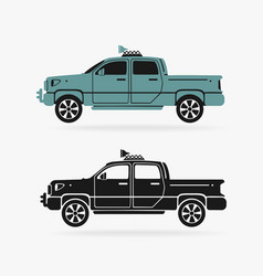 vehicle pickup symbol vector image vector image
