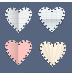 Hearts paper note vector image
