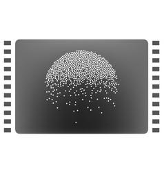 heavy snowfall icon vector image vector image