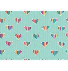 pattern hearts vector image vector image