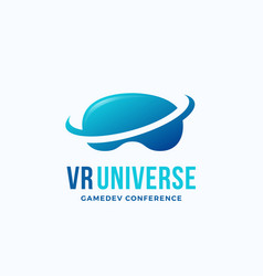 virtual reality universe abstract icon vector image vector image