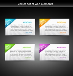 web elements vector image vector image