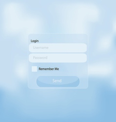 web login panel vector image
