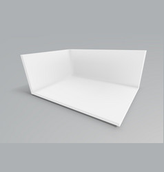 3d white empty promotional event show room vector image