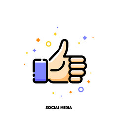 A like button for social networking services vector