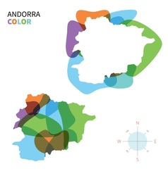 Abstract color map of Andorra vector