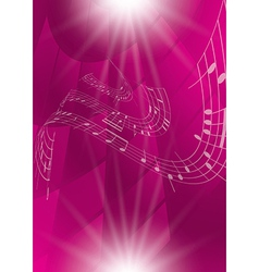 abstract crimson music background vector image