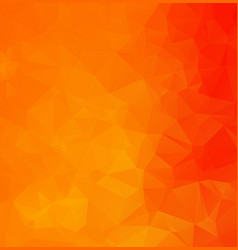 abstract orange polygonal mosaic background vector image