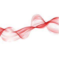 abstract red wave background set of wavy lines in vector image