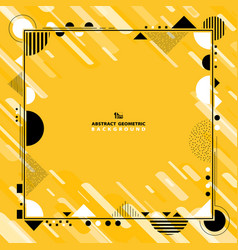 abstract yellow geometric decoration with black vector image