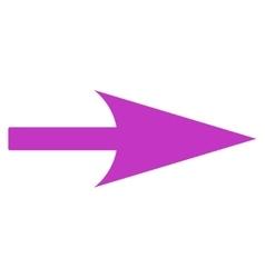 Arrow Axis X flat violet color icon vector