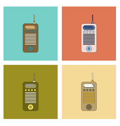 Assembly flat icon old cell phone vector