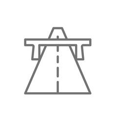 autobahn highway road way line icon vector image