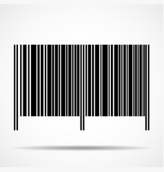 barcode isolated on white background vector image