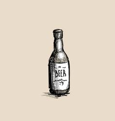 beer bottle oktoberfest festival holiday vector image