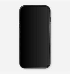 black mobile phone background vector image