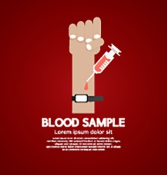 Blood Sample Medical Concept vector image