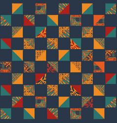 boho seamless squares set vector image