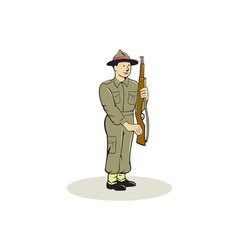 British World War II Soldier Presenting Arms vector