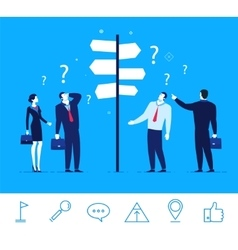 Business concept Businessmen vector