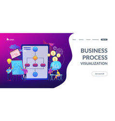 business process management concept landing page vector image