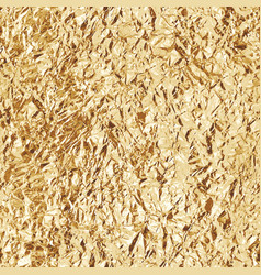 crumpled gold foil seamless texture vector image