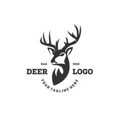 Deer logo designs inspirations hunting club logo vector