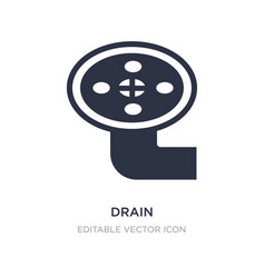 Drain icon on white background simple element vector