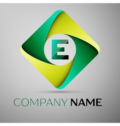 E letter colorful logo in the rhombus template for vector